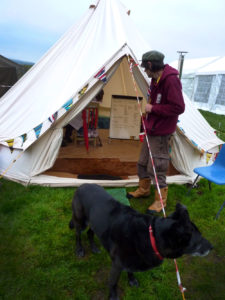 Dale and Sam the camp dog
